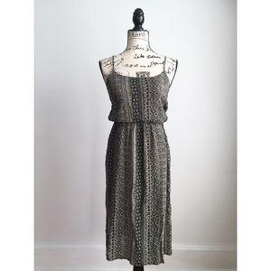 Forever 21 Midi Aztec Print Boho Dress